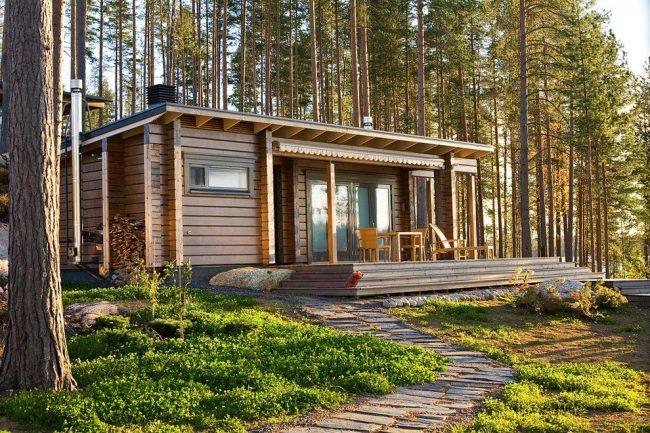 Maison en bois à un étage