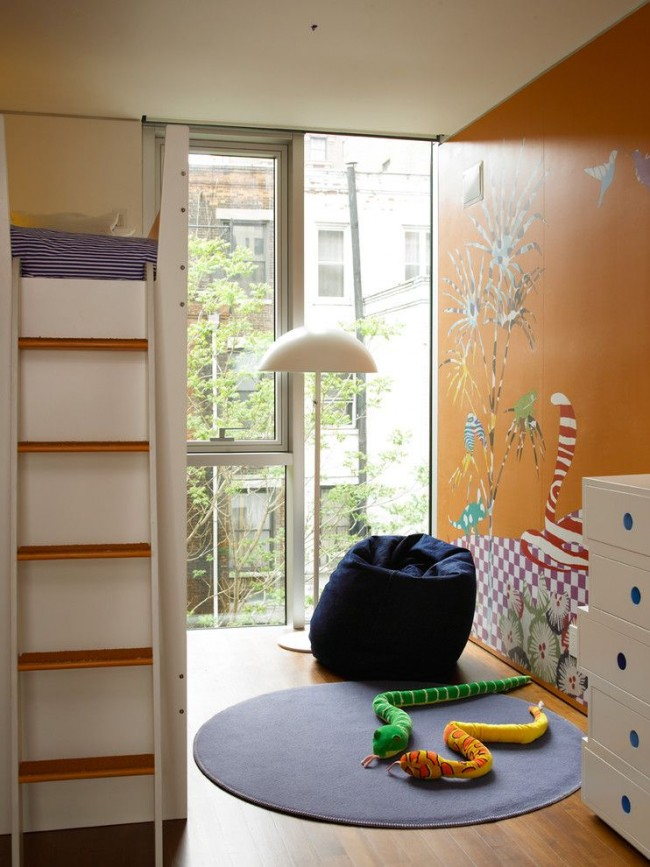 Haricot moelleux dans la chambre des enfants
