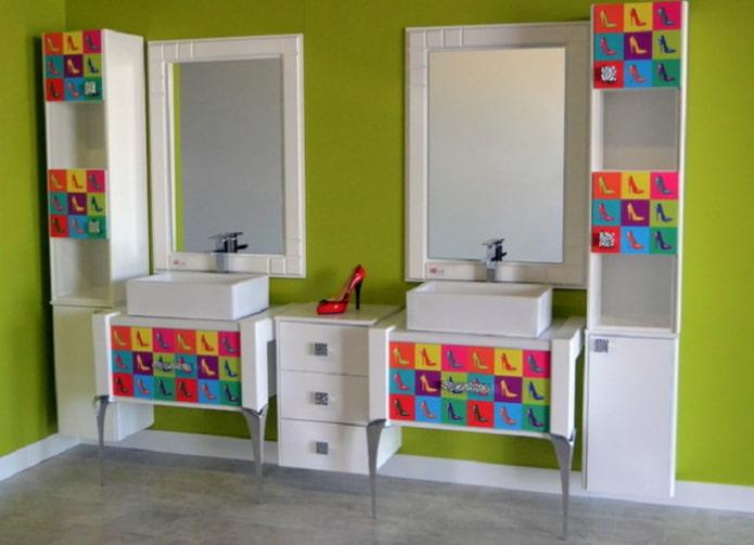 Salle de bain pop art