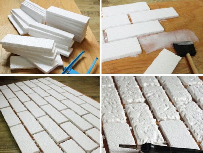Faire des briques en polystyrène