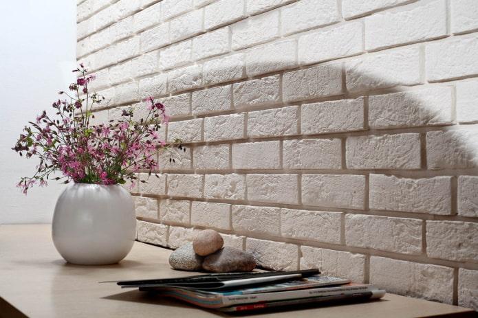 Mur de briques de plâtre