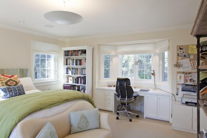 Chambre avec baie vitrée