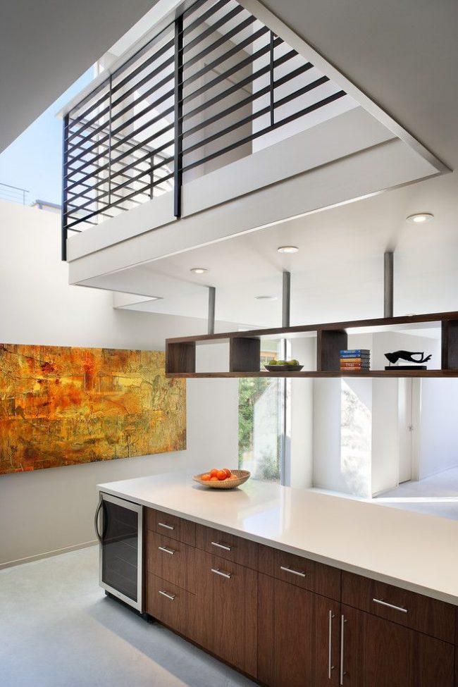 Tableau abstrait lumineux de grande taille dans la cuisine de style Art Nouveau