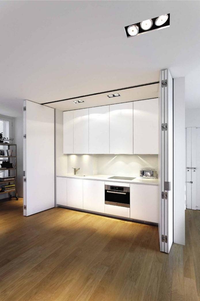 éclairage dans la cuisine invisible