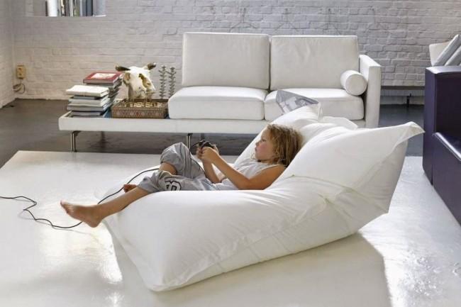 Les meubles rembourrés sans cadre gagnent en popularité aujourd'hui