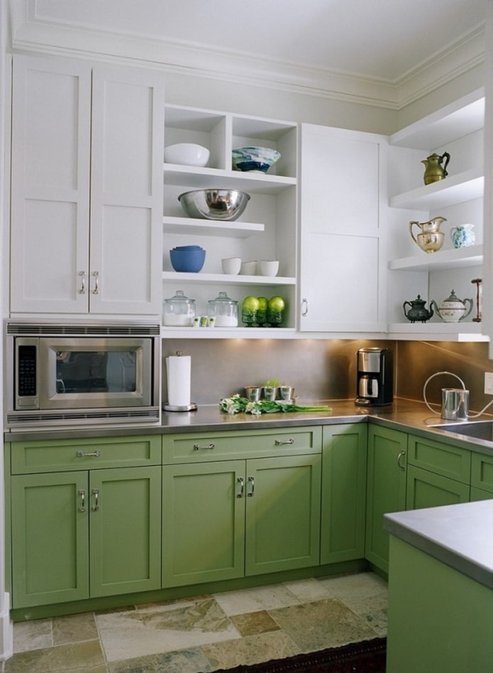cuisine blanche et verte