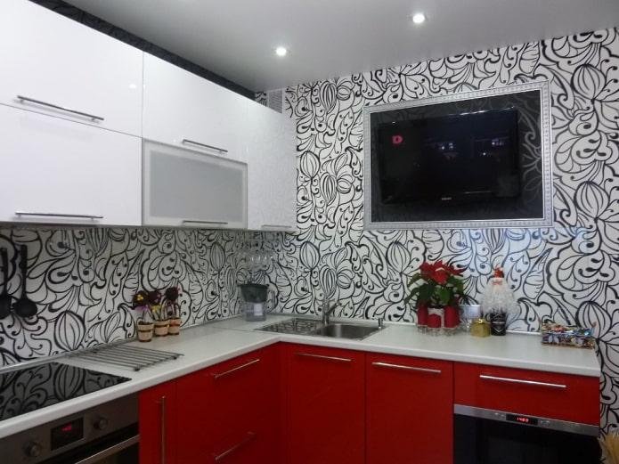 cuisine rouge et noire