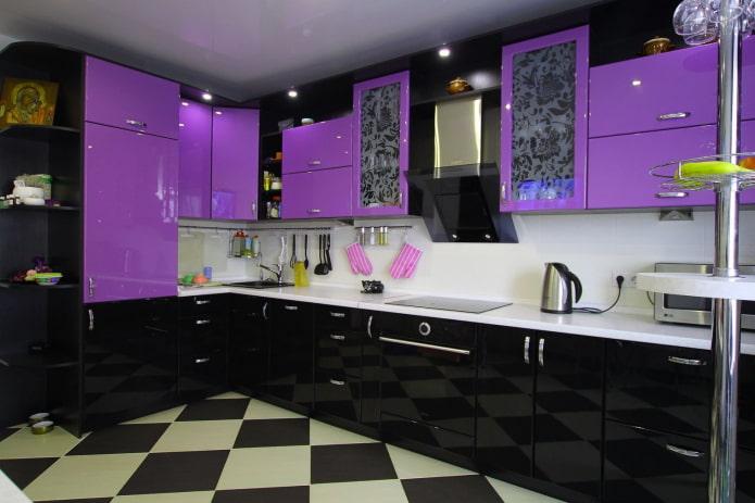 cuisine noir et violet