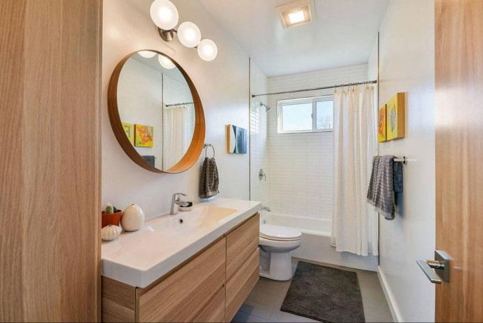 miroir de salle de bain rond