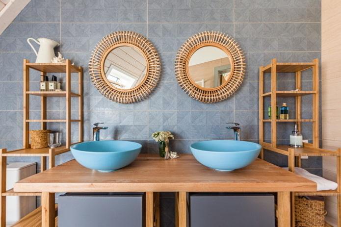 aménagement de salle de bain symétrique