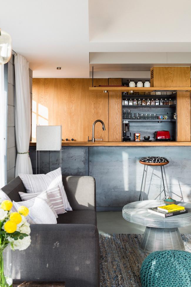 Cuisine de style loft moderne