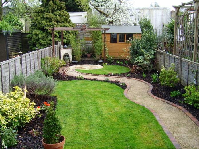 Comment décorer un aménagement paysager de zone étroite?