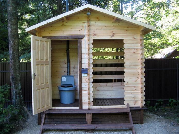 Toilettes et douche sous un même toit