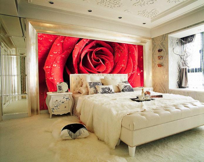 papier peint photo avec rose