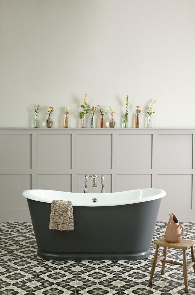 Les baignoires en fonte sont solides et durables