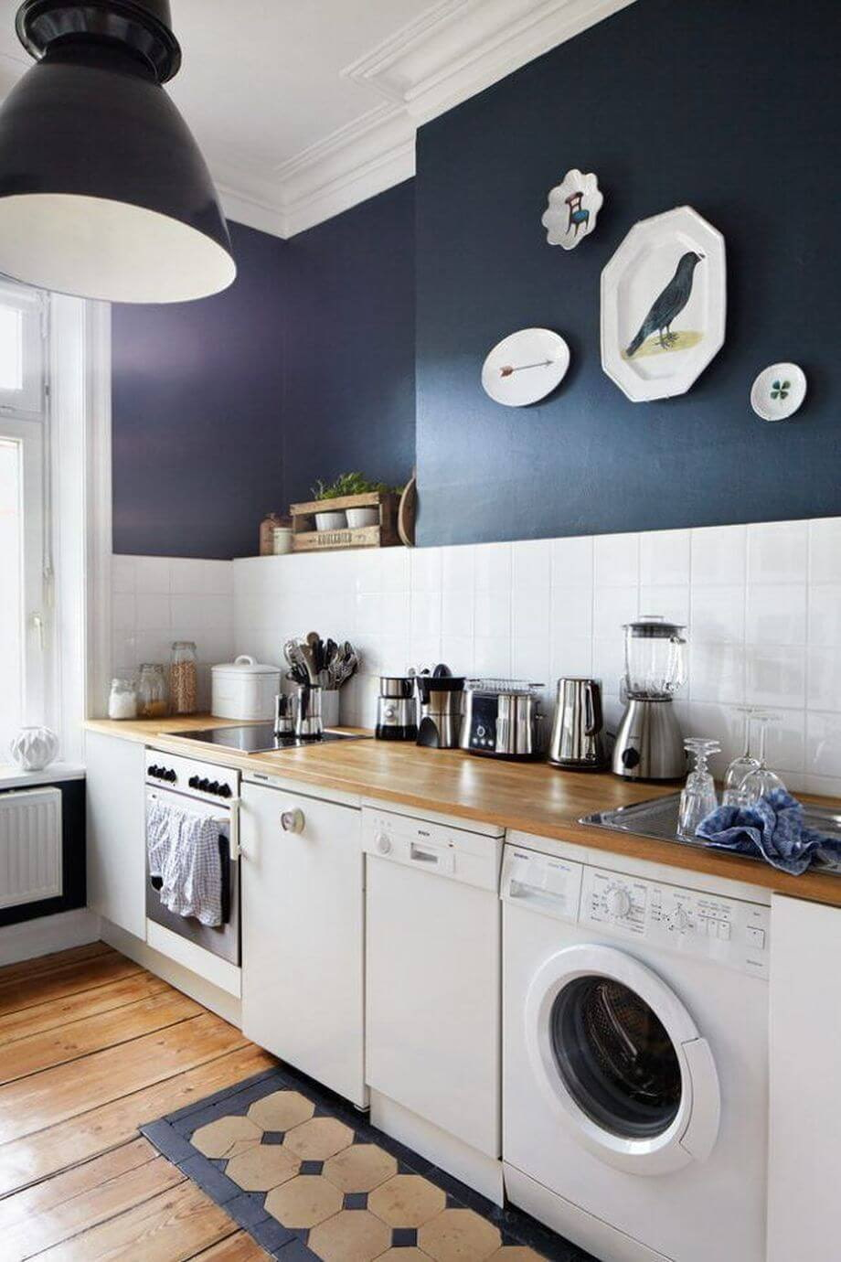 installation de la laveuse sous le comptoir