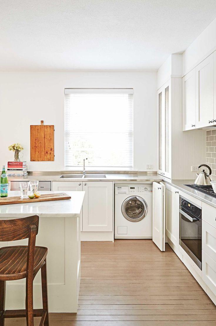 machine à laver dans la cuisine