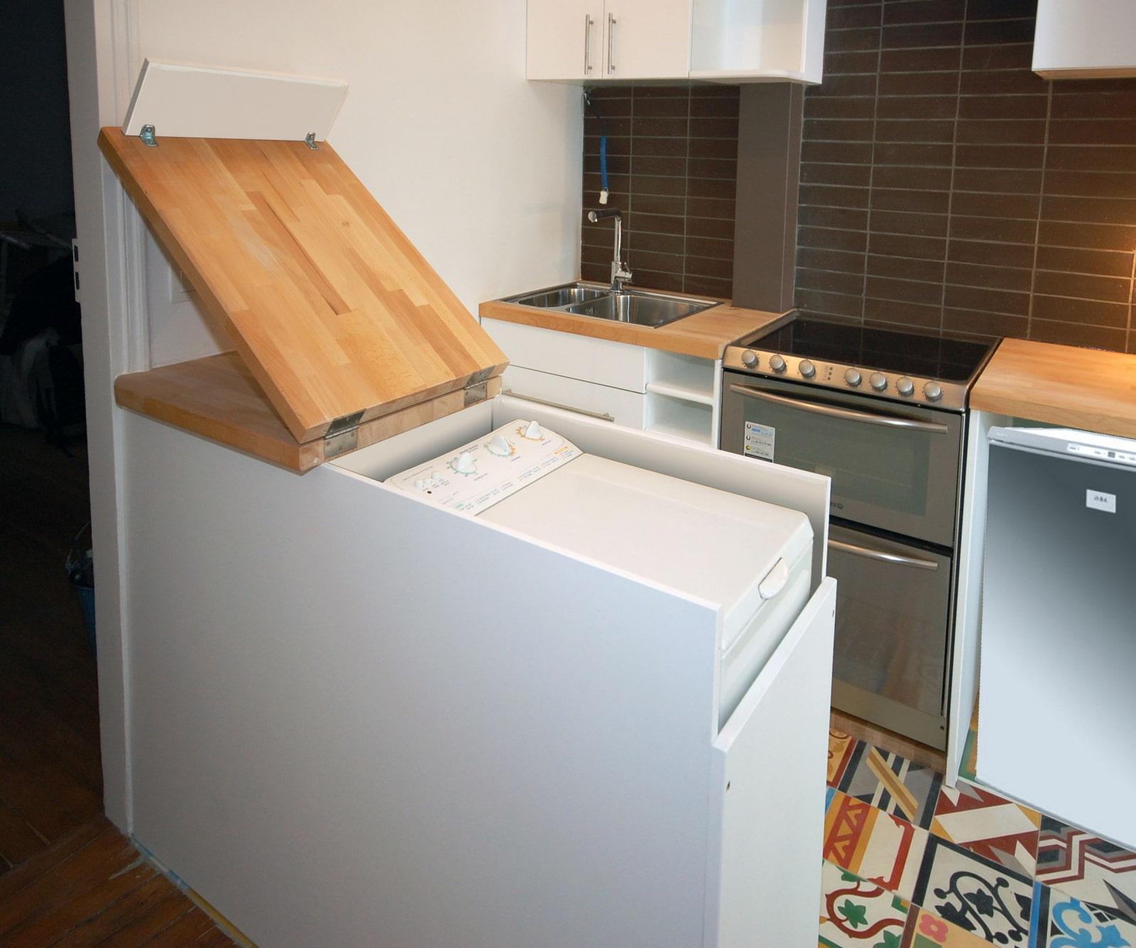 machine à chargement par le haut dans la cuisine