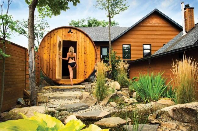En raison de sa petite taille, le bain de baril peut être installé dans une petite zone