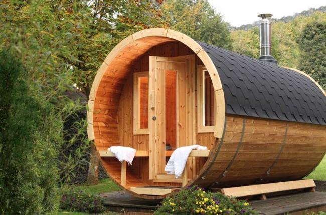 Malheureusement, les saunas en tonneau ne sont pas très spacieux