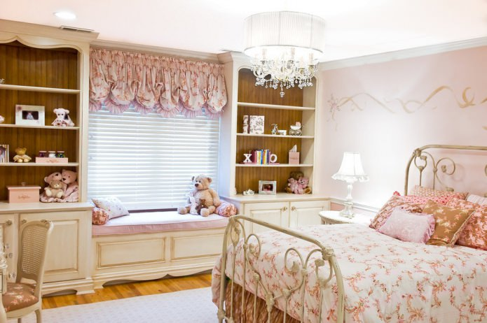 rideaux dans le style provençal pour la pépinière