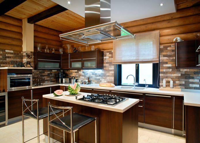 style moderne dans une maison en bois