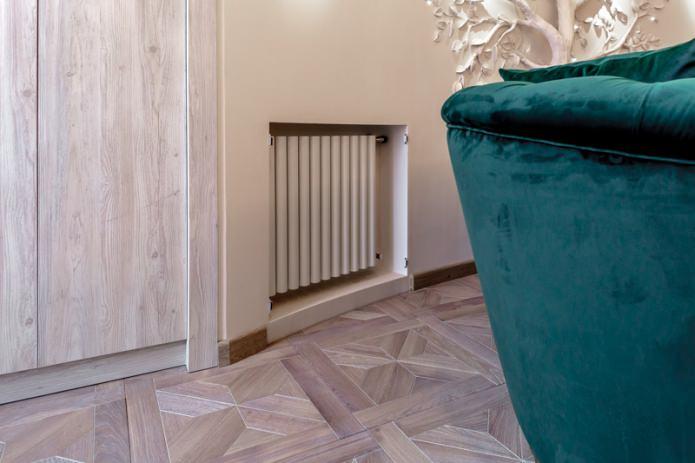 niche et radiateur en plaques de plâtre