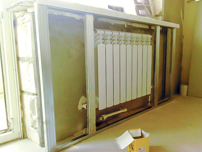 Installation du cadre de radiateur