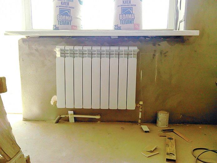 installation d'une niche en plaques de plâtre pour une batterie