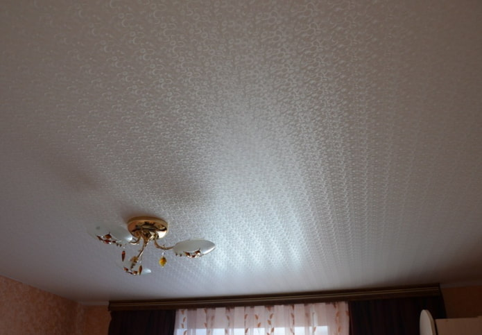tissu extensible texturé en blanc