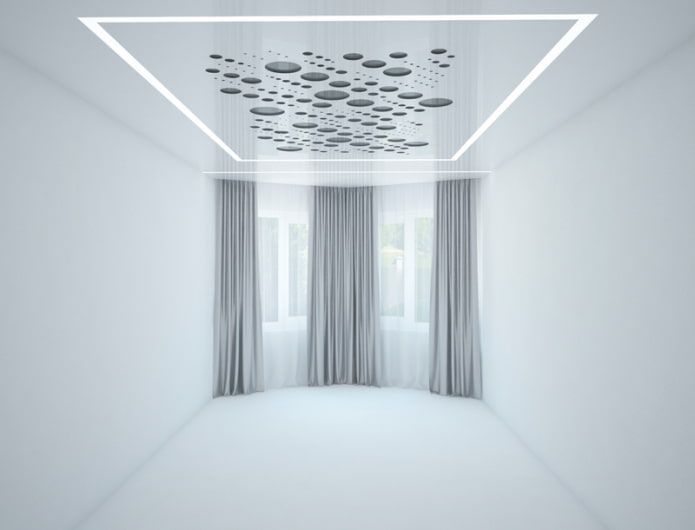 tissu extensible perforé en blanc