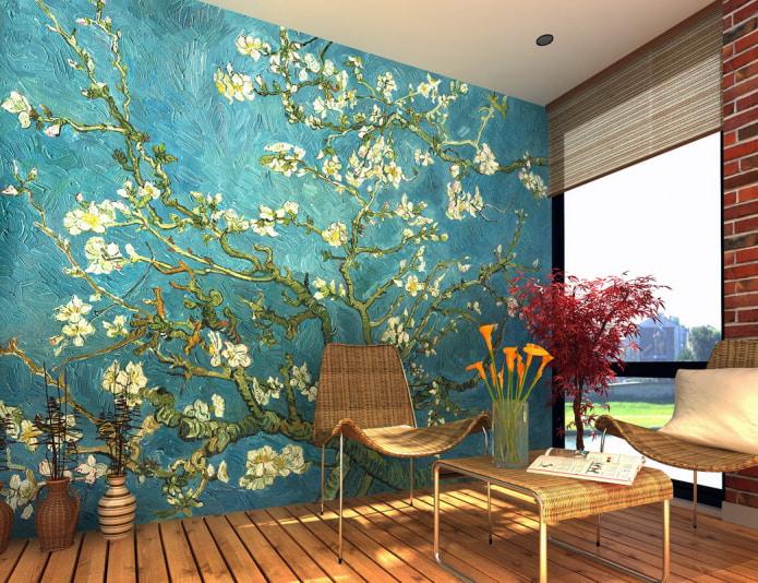 papier peint avec arbre en fleurs