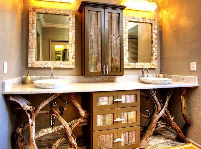 Une version aussi inhabituelle du meuble transformera la salle de bain en une pièce magique.