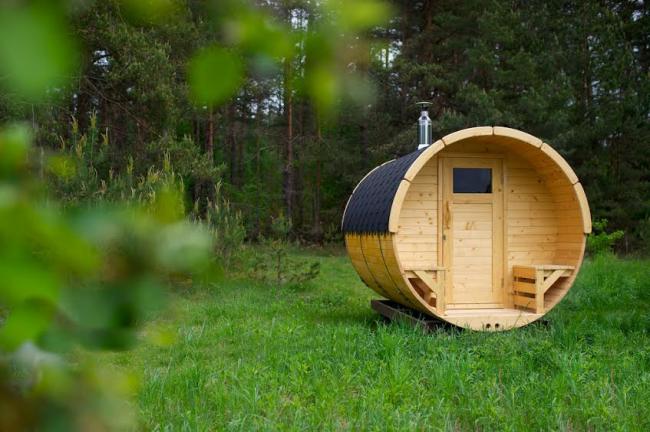Le sauna baril est une version élégante, économique et confortable du sauna