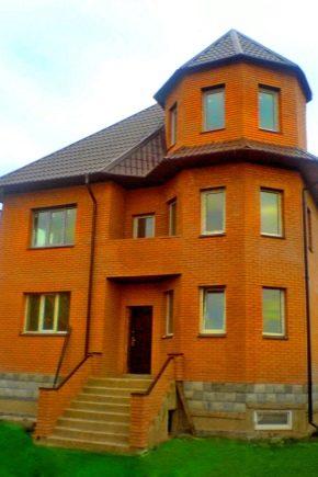 Beaux projets de maisons en briques avec un grenier