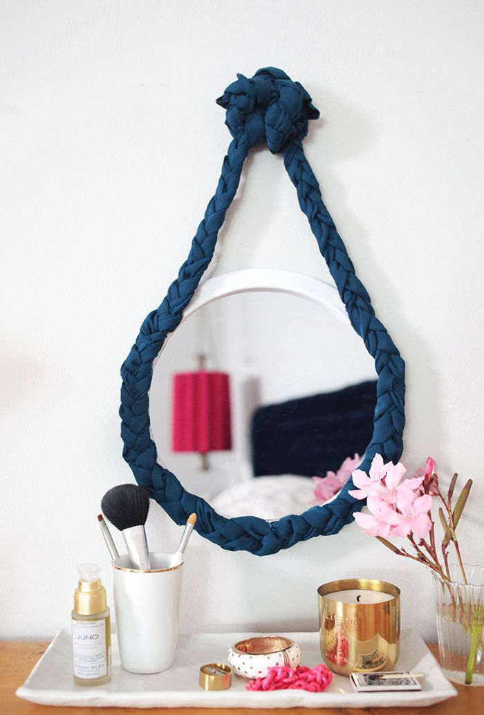 Cadre original de miroir de corde de corde