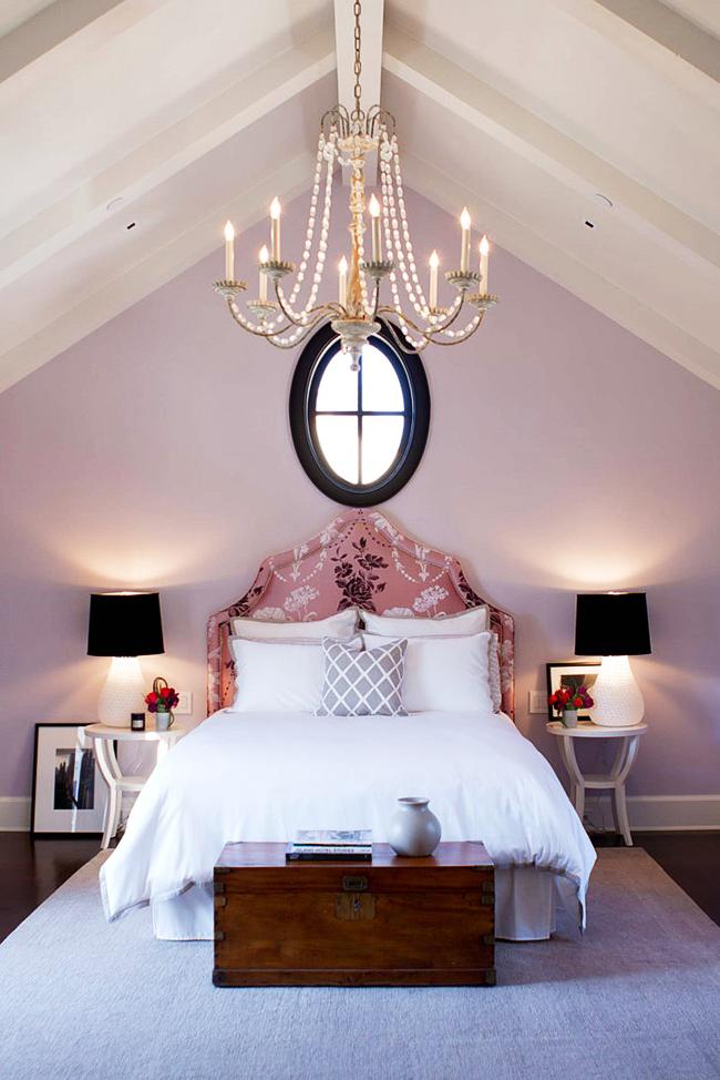 Chambre classique couleur lavande