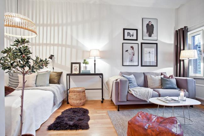 Intérieur multifonctionnel dans un petit appartement