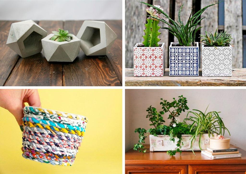 Comment faire des pots de fleurs de vos propres mains?  9 master classes