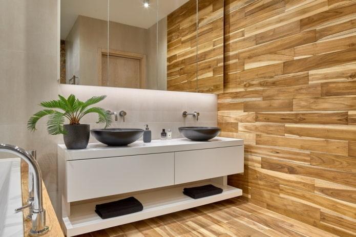 meuble pour deux lavabos