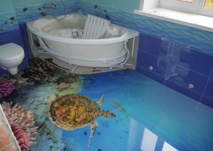 Sol de salle de bain 3D