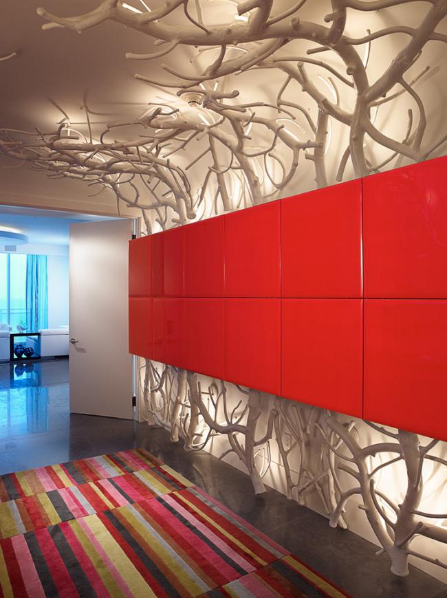 Combinaison parfaite de bois naturel et d'éclairage décoratif