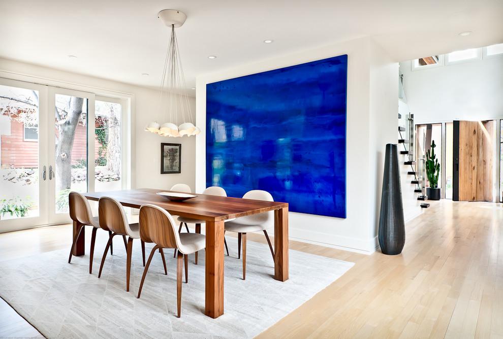 Conception de salle à manger de maison privée dans un style moderne