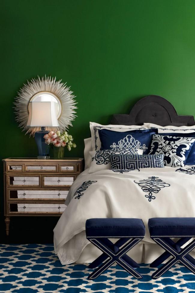 Vert et bleu - profondeur et luxe de couleur