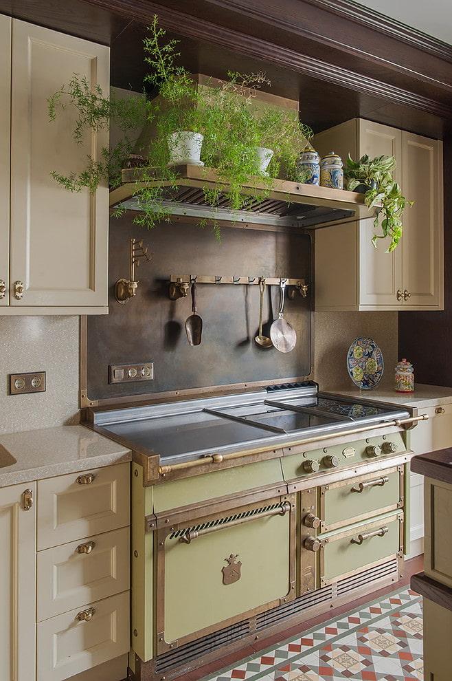 couleurs pastel dans la cuisine