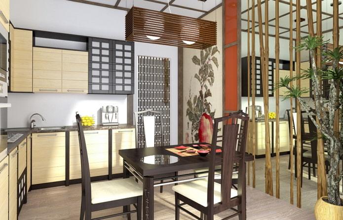 Style japonais à l'intérieur