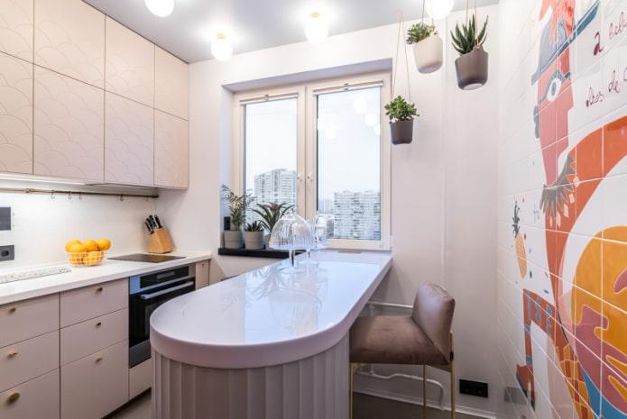 cuisine 11 m² avec un bar