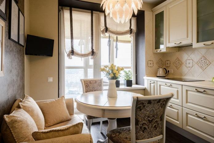 cuisine 7 m² avec canapé