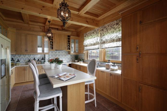 intérieur de cuisine aux couleurs marron clair