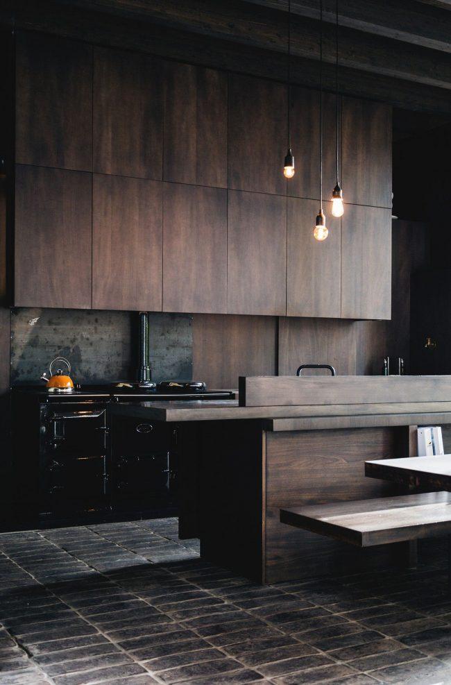 Cuisine marron style loft